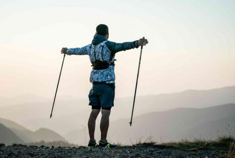 The Scandinavian walking with sticks: technology of walking for beginners